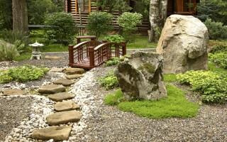Японский сад камней дома